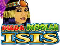 Mega Moolah Isis progressive jackpot.