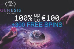 Genesis 300 Free Spins 300x200