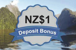 NZ $1 Deposit Bonus 300x200