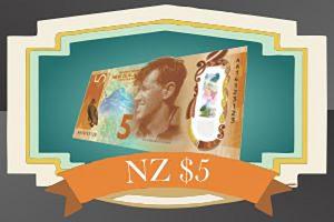 5 New Zealand Dollars