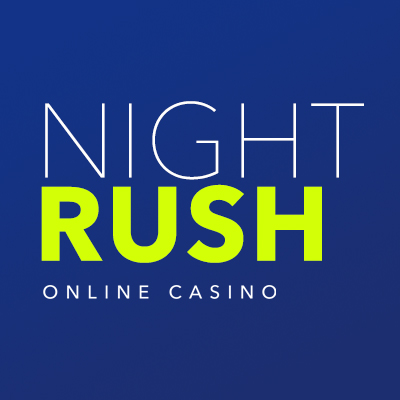 Night Rush Online Casino Logo Blue