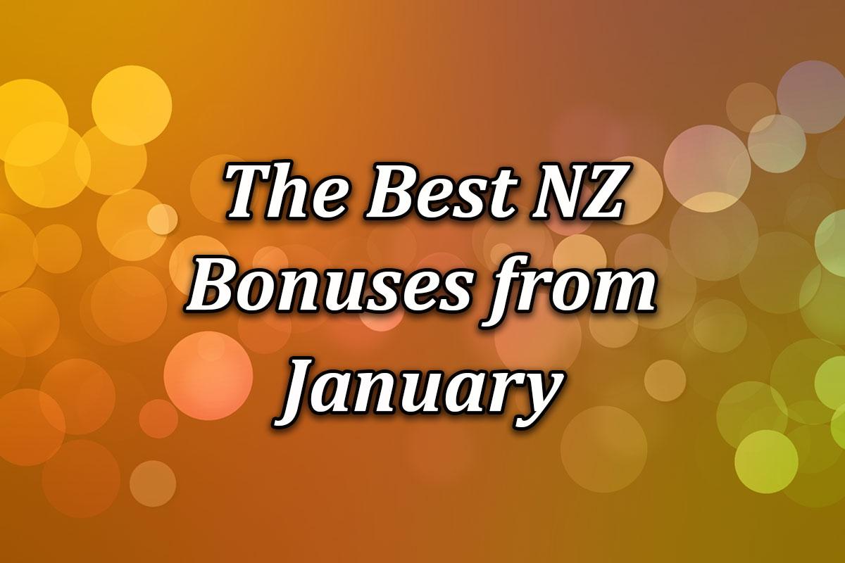 New Zealand's Best January Bonuses online casinos