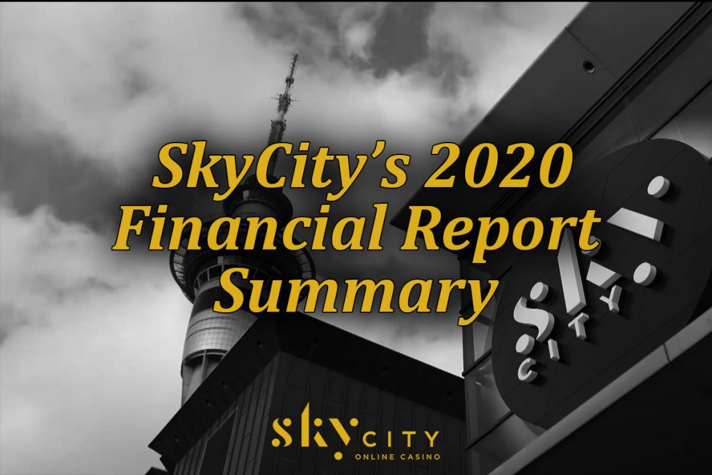 Summary of SkyCity's 2020 financial report on deposits and withdrawals