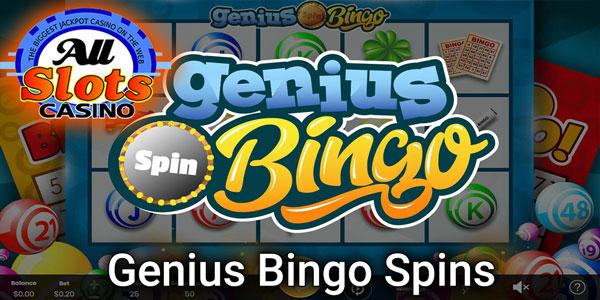 Genius Bingo at All Slots casino information slide