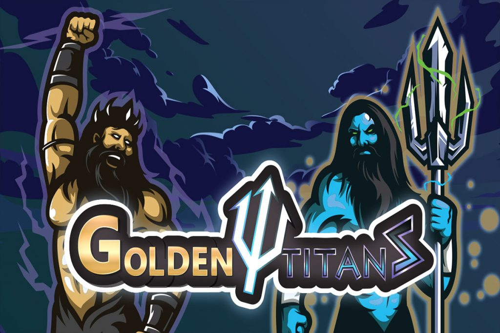 Zeus and Poseidon from Golden Titans slot game