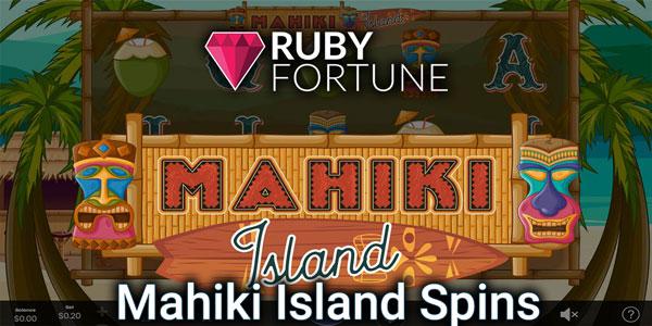 Mahiki Island slot information slide