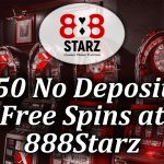 50 Spins on offer from 888starz with no deposit spins